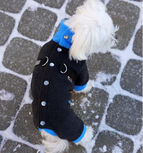 "Fliso kostiumėlis ""Šiltukas. Pilka / mėlyna"""