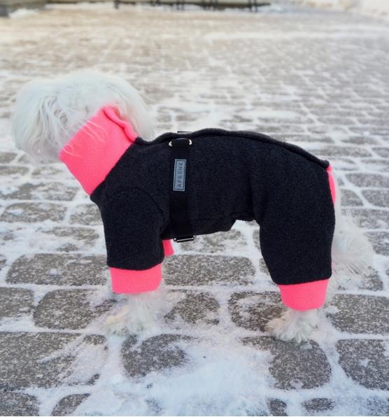 """Fliso kostiumėlis """"Šiltukas. Pilka / rožinė"""""""